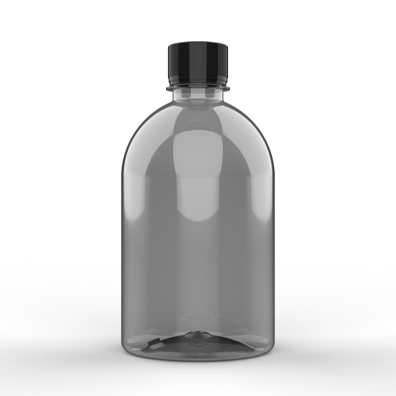 EMABALAGEM PET CRISTAL PARA HIGIENE PESSOAL 500 ml